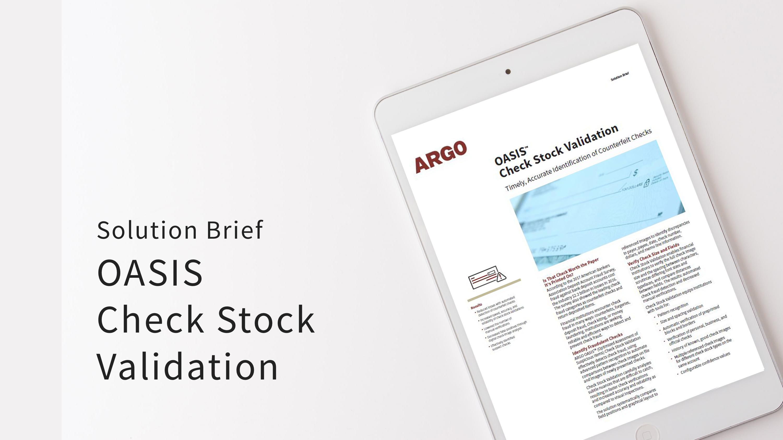 SB OASIS Check Stock Validation
