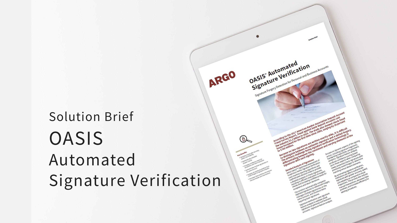 SB OASIS Signature Verification