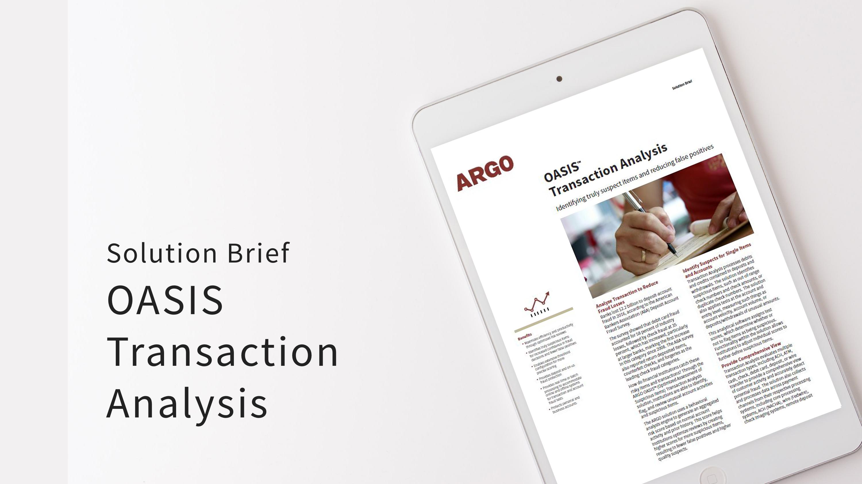SB OASIS Transaction Analysis