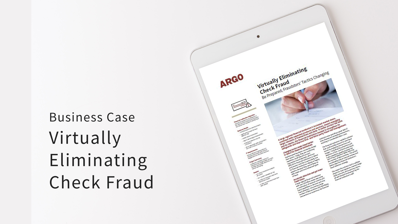 Virtually Eliminating Check Fraud