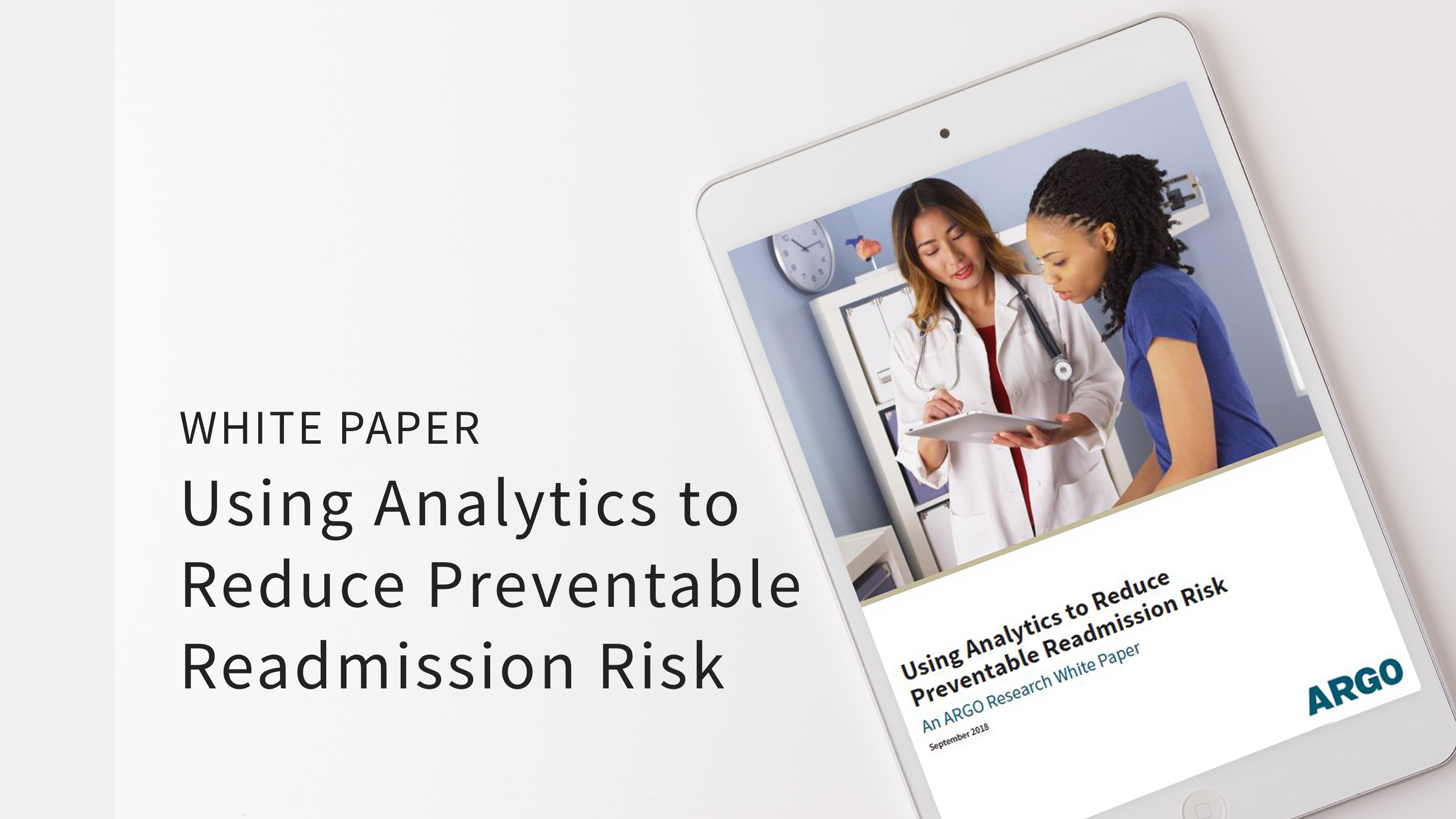 WP Using Analytics to Reduce Readmission