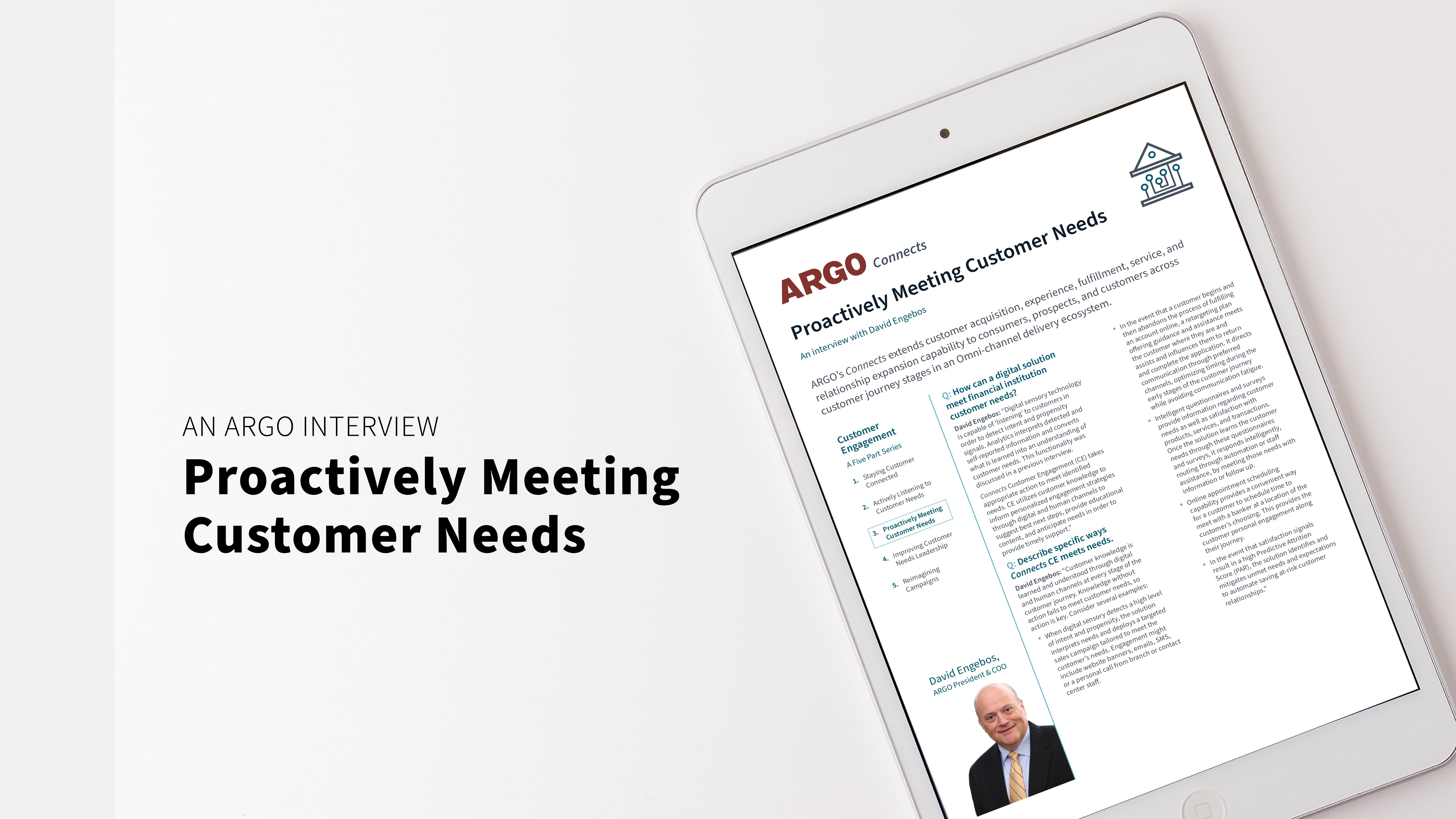 Proactively Meeting Customer Needs[28]