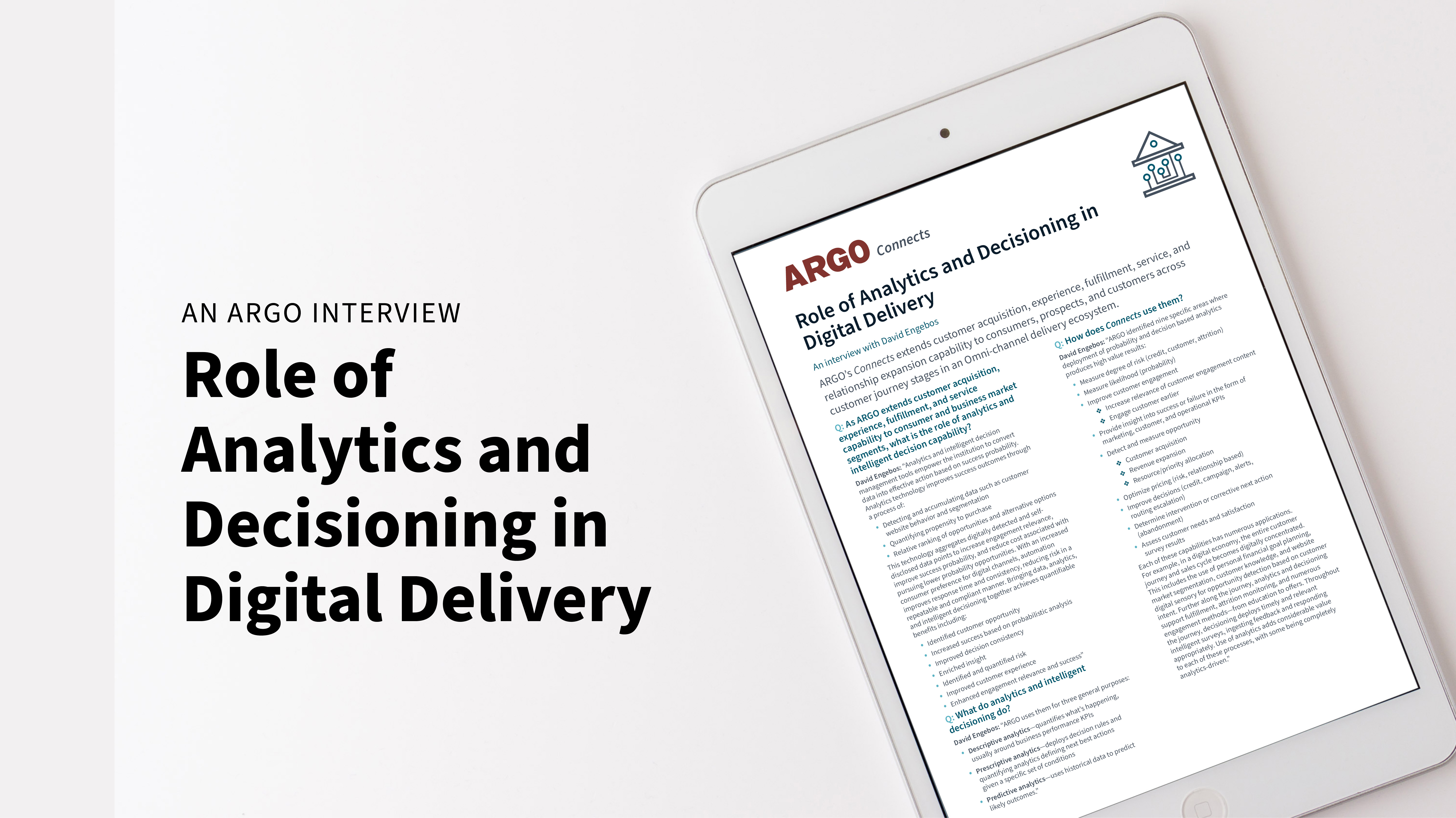 Role of Analytics and Decisioning in Digital Delivery[51]