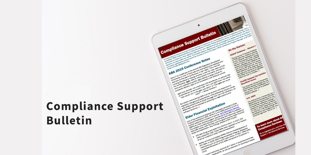 Compliance Support Bulletin